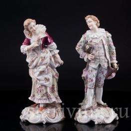 Фарфорвая статуэтка Романтическая пара, Volkstedt, Германия, кон. 19 в.