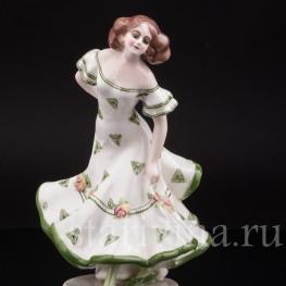 Фарфоровая статуэтка девушки Танцовщица, Goldscheider, Австрия, 1920-30 гг.