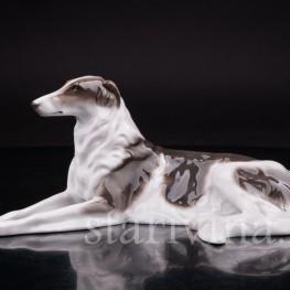 Фарфоровая статуэтка собаки Русская борзая, Rosenthal, Германия, 1930 гг.