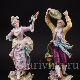 Фарфоровые статуэтки Танцующая пара, E & A Muller (Schwarza-Saalbahn), Германия, кон. 19 в., нач. 20 в.